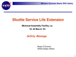 Shuttle Service Life Extension