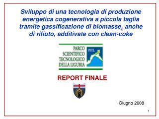 Sviluppo di una tecnologia di produzione energetica cogenerativa a piccola taglia tramite gassificazione di biomasse, an