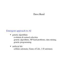 Emergent approach to AI  genetic algorithms evolution  natural selection genetic algorithms, NP-hard problems, data mini
