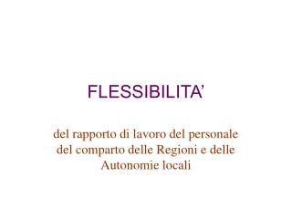 FLESSIBILITA