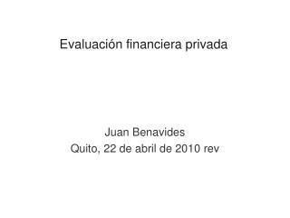 Evaluaci n financiera privada