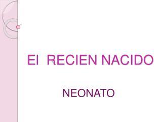 El  RECIEN NACIDO