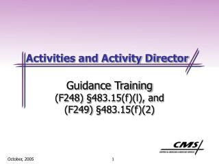Activities and Activity Director