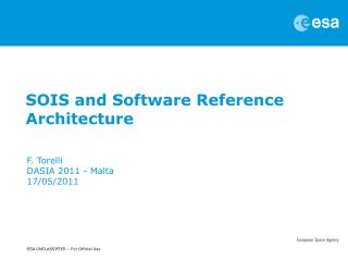 SOIS and Software Reference Architecture