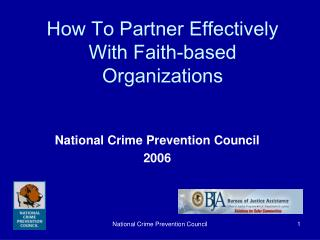 How To Partner Effectively  With Faith-based  Organizations
