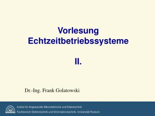 Vorlesung Echtzeitbetriebssysteme   II.