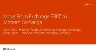 Exchange 2007 Exchange Server 2007