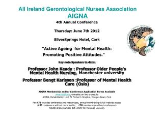 All Ireland Gerontological Nurses Association AIGNA
