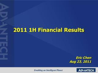 2011 1H Financial Results