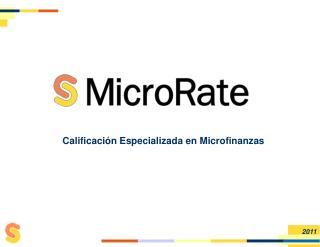 Calificaci n Especializada en Microfinanzas