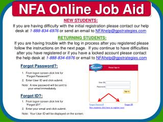 NFA Online Job Aid