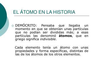 EL  TOMO EN LA HISTORIA
