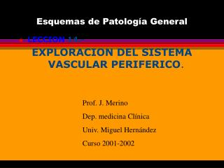 Esquemas de Patolog a General