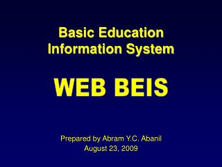 Basic Education  Information System