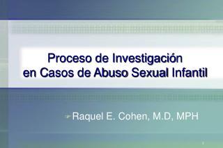 Proceso de Investigaci n  en Casos de Abuso Sexual Infantil