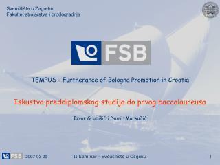 Sveucili te u Zagrebu Fakultet strojarstva i brodogradnje
