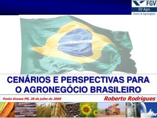 CEN RIOS E PERSPECTIVAS PARA O AGRONEG CIO BRASILEIRO