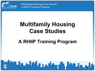 Multifamily Housing Case Studies