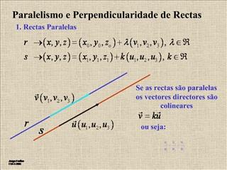 Paralelismo e Perpendicularidade de Rectas