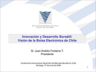 Innovaci n y Desarrollo Burs til: Visi n de la Bolsa Electr nica de Chile