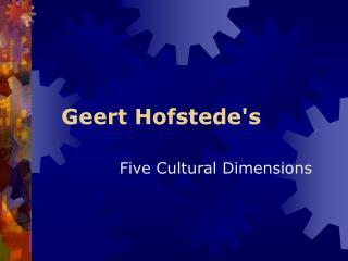 Geert Hofstedes