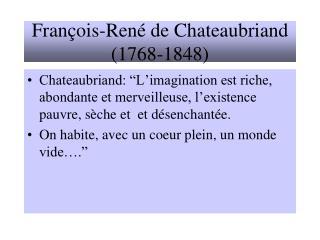 Fran ois-Ren  de Chateaubriand 1768-1848