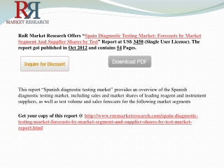 Spain Diagnostic Testing Market: Forecasts by Market Segment