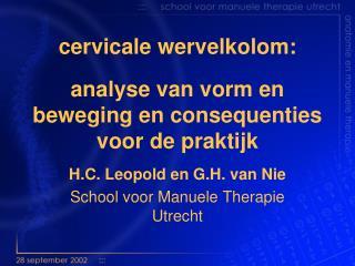 Cervicale wervelkolom:  analyse van vorm en beweging en consequenties voor de praktijk