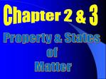 Property  States  of  Matter