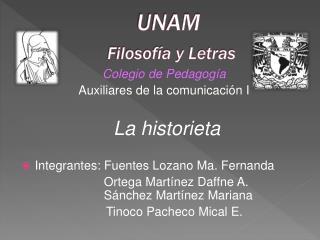 UNAM  Filosof a y Letras