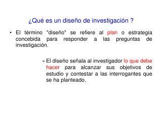 Qu  es un dise o de investigaci n