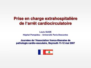 Prise en charge extrahospitali re  de l arr t cardiocirculatoire