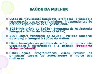 SA DE DA MULHER