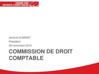 Commission de droit comptable