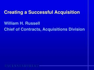 Creating a Successful Acquisition