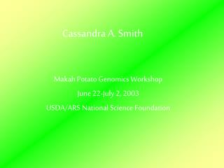 Cassandra Smith Final Presentation