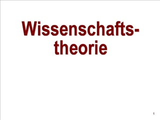 Wissenschafts-theorie