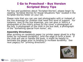 I Go to Preschool - Bus Version Scripted Story Tips