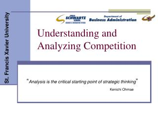 Understanding and Analyzing Competition
