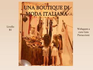 Webquest a cura Gaia Pieraccioni