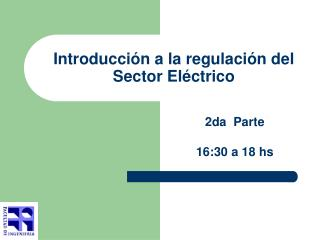 Introducci n a la regulaci n del Sector El ctrico