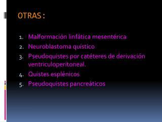 OTRAS: