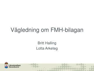 V gledning om FMH-bilagan