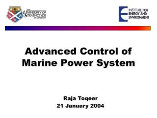Advanced Control of Marine Power System