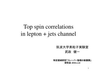 Top spin correlations  in lepton  jets channel