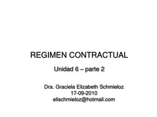 REGIMEN CONTRACTUAL Unidad 6   parte 2