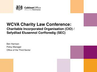 Session 2 - The Charitable Incorporated Organisation - Slides