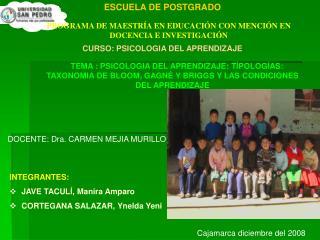 PROGRAMA DE MAESTR A EN EDUCACI N CON MENCI N EN DOCENCIA E INVESTIGACI N