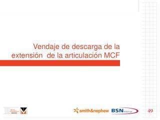 Vendaje de descarga de la extensi n  de la articulaci n MCF