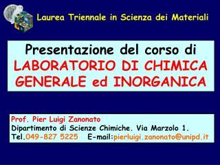 Laurea Triennale in Scienza dei Materiali